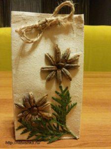 Упаковка для подарков своими руками. декор природными материалами