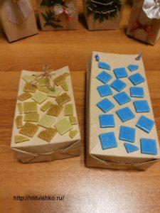 Упаковка для подарков своими руками. Декор плиткой