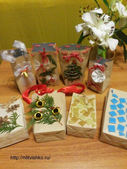 Как красиво и недорого сделать упаковку для Новогодних подарков своими руками:сумочки-пакетикидля подарков
