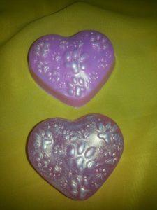 Мыло ручной работы на день святого Валентина - мыло с перламутром