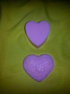 Мыло ручной работы на день святого Валентина - непрозрачные сердца