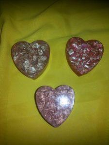 Мыло ручной работы на день святого Валентина - мыло с наполнителем
